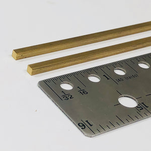 Albion SBW30 3mm x 3mm Square Brass Rod  2-PACK