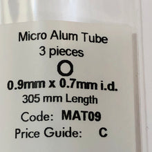 Load image into Gallery viewer, Albion MAT09 Aluminium Micro Tubing 0.9 mm x 0.7 mm i.d. 3-PACK
