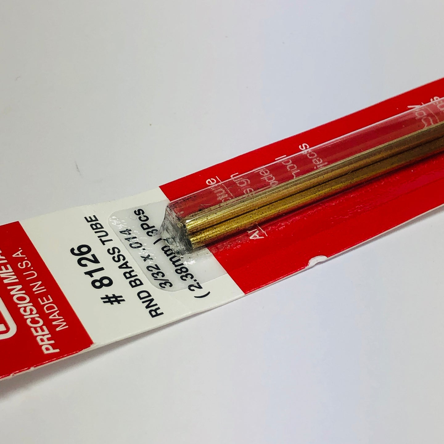 K&S 8126 Round Brass Tube 3/32