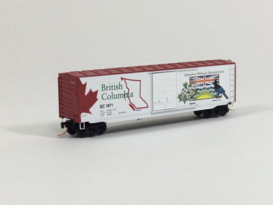 Micro-Trains MTL N Canada Series #1 British Columbia 50' Box Car 07700151 BSB-08