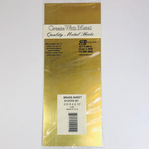 "K&S 251 Brass Sheet 0.010""x 4"" x 10"""
