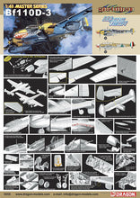 Load image into Gallery viewer, Dragon 1/48 German Bf110D-3 Cyber Hobby 5555