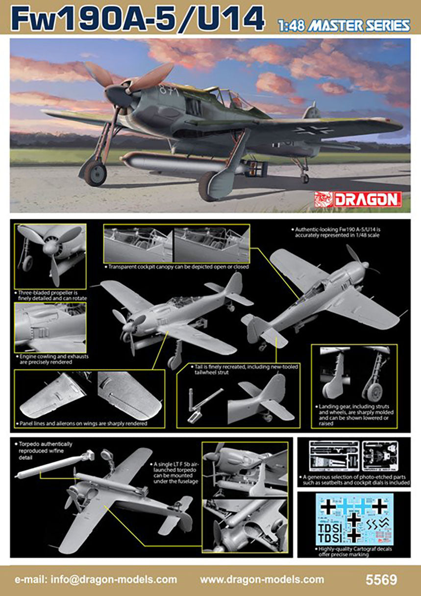 Dragon 1/48 German Fw190A-5/U14 Master Series 5569