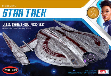 Polar Lights Star Trek 1/2500 USS Shenzhou NCC-1227 Snap Plastic Kit 967M