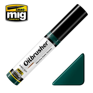Ammo by Mig AMIG3531 Oilbrusher Mecha Dark Green