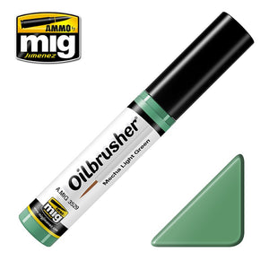 Ammo by Mig AMIG3529 Oilbrusher Mecha Light Green