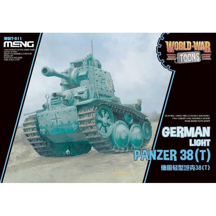 Meng Kids World War Toons Snaptite German Panzer 38(T) WWT-011