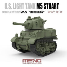 Load image into Gallery viewer, Meng Kids World War Toons Snaptite US M5 Stuart Light Tank WWT-012