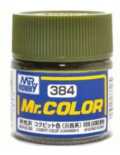 Mr. Hobby Mr. Color Lacquer C384 Cockpit Color (Kawasaki) C384 10ml
