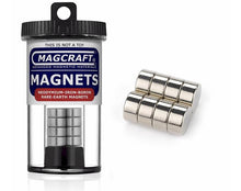 "Load image into Gallery viewer, Magcraft 641 - 8 Disc Magnets 0.5""x0.25"""