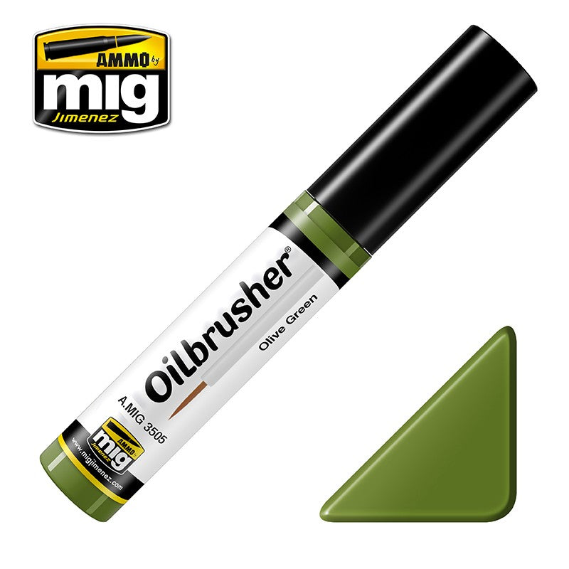 Ammo by Mig AMIG3505 Oilbrusher Olive Green