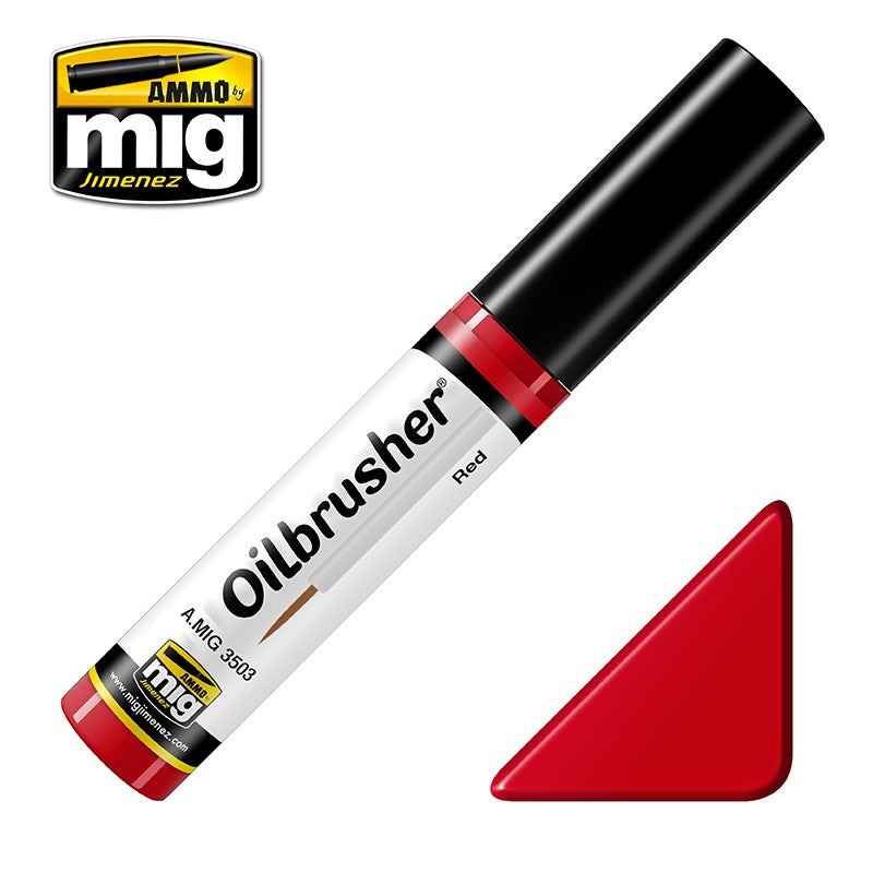 Ammo by Mig AMIG3503 Oilbrusher Red 3503