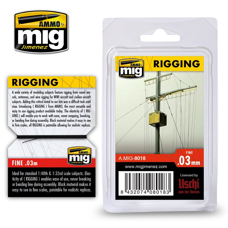 Ammo by Mig AMIG8018 Rigging 0.03mm