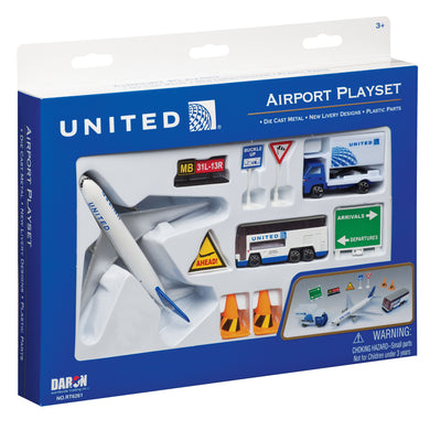 Daron Playset United Airlines Airport RT6261