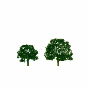 "JTT HO 3""-3.5"" Premium Walnut Tree (2) 92053"