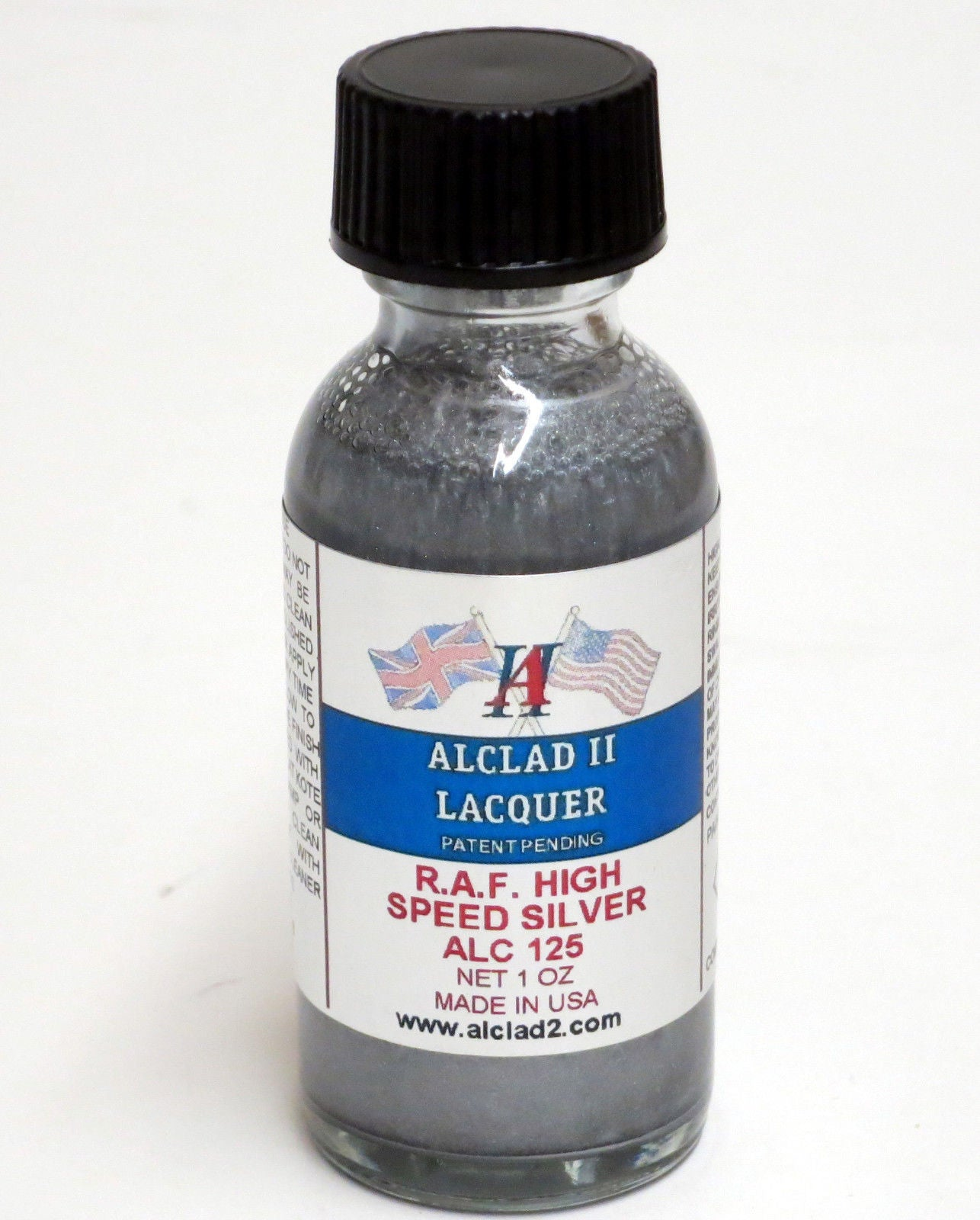 Alclad ALC125 1oz. RAF High Speed Silver Lacquer Paint