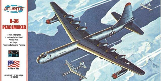 Atlantis 1/184 US B-36 Peacemaker Giant Bomber H205