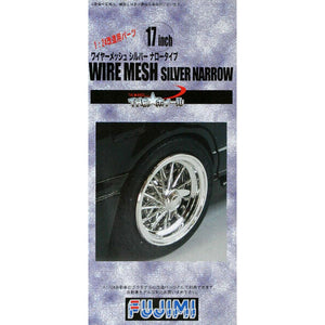 "Fujimi 1/24 Wheel Series Wire Mesh Silver Narrow 17"" Wheel 192819"