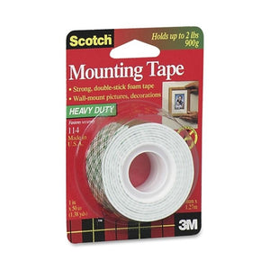 "3M Scotch Foam Mounting Tape 1""x 50"" 3M114"