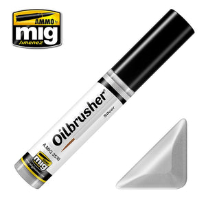 Ammo by Mig AMIG3538 Oilbrusher Silver