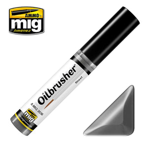 Ammo by Mig AMIG3536 Oilbrusher Steel