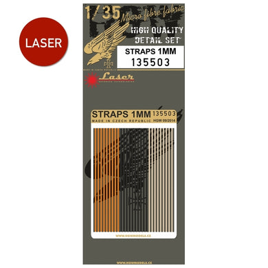 HGW 1/35 Laser Cut Micro-Fabric Straps 1mm 135503