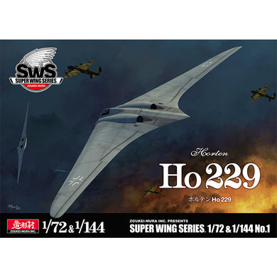 Zoukei-Mura 1/72 and 1/144 German Horton Ho-229 Flying Wing Fighter Set SWS-1