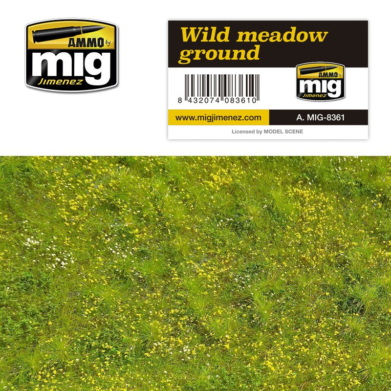 Ammo by Mig AMIG8361 Grass Mat Wild Meadow Diorama Base