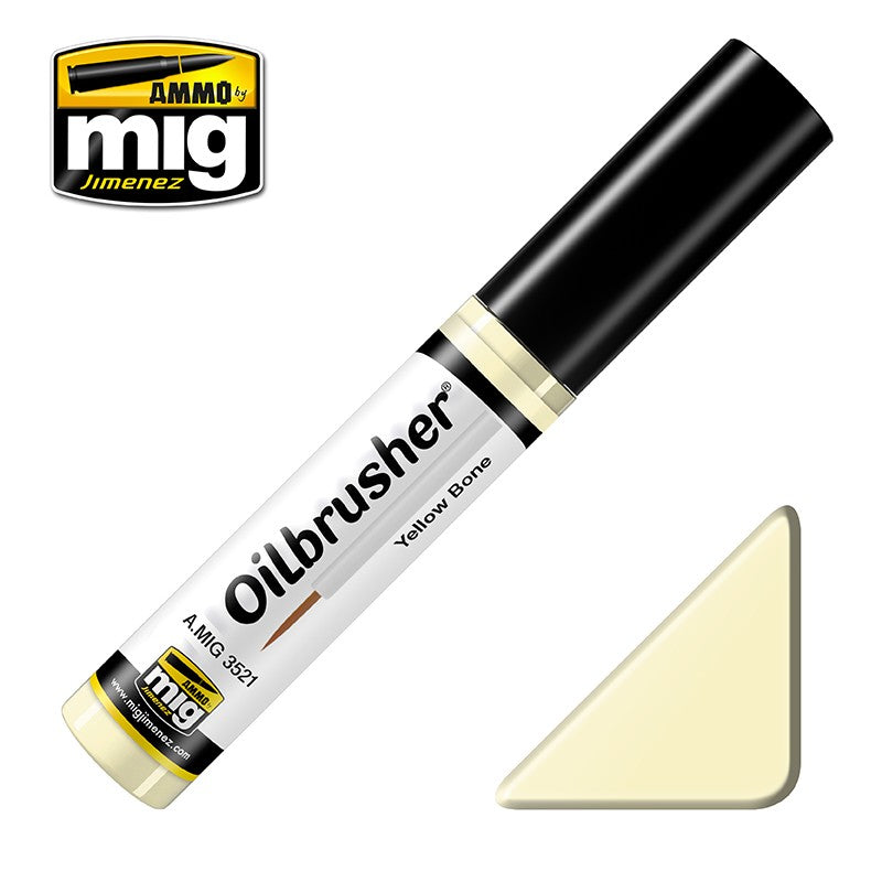 Ammo by Mig AMIG3521 Oilbrusher Yellow Bone