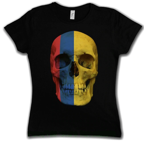 Women's Tee - Colombia Skull Flag, Western Style - Country Pride