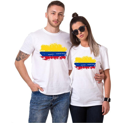 Fashion Lovers - Colombian Flag T-shirt. Perfect For Couples
