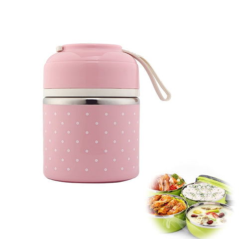 Stainless Steel Portable Lunch Box For Food Storage
