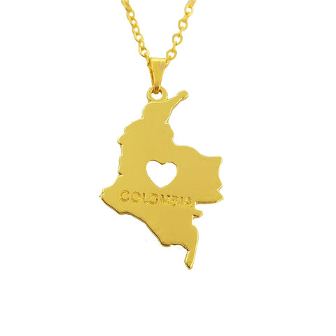 Colombian Map Necklace