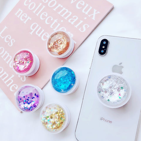Universal Phone Holder with Magnetic Colors Colorful Liquid Glitter