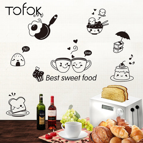 """Best Sweet Food"" Kitchen Wall Stickers"