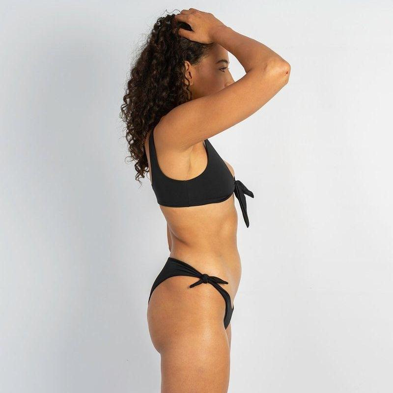 Layla Tie Up Bikini Bottoms - Bombshell Bay Swimwear