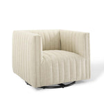 Seneca Beige Fabric Swivel Chair