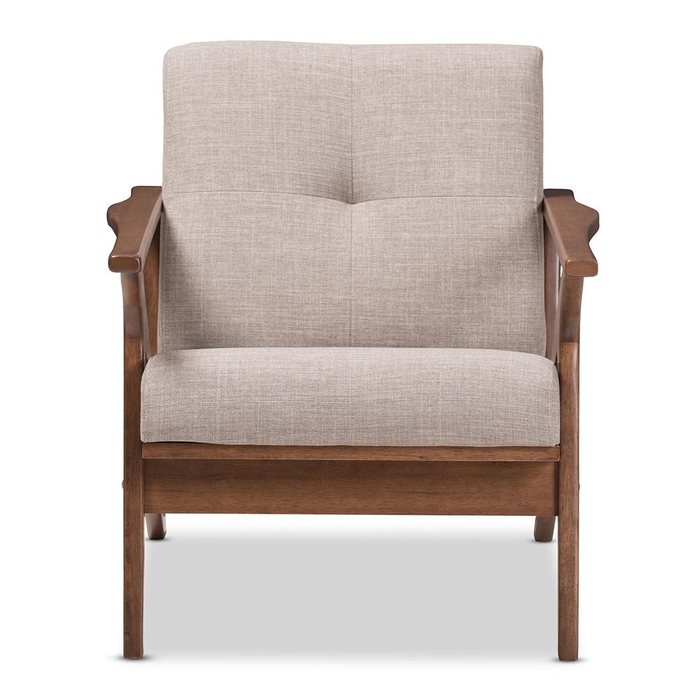 Rory Light Gray Fabric Chair