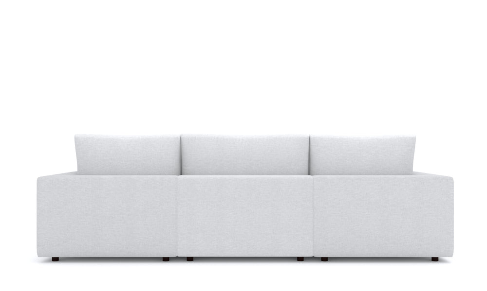 Blythe White Right 4-Piece Sectional