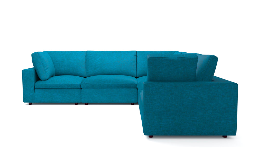 Blythe Teal 5-Piece Sectional