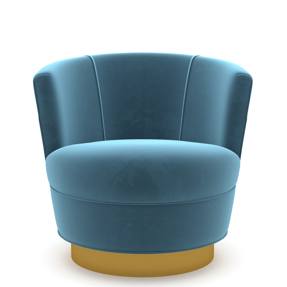 Cedar Light Blue Swivel Chair