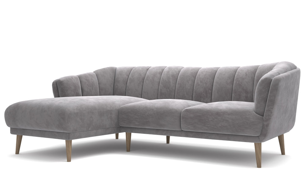 Crest Gray Left Sectional