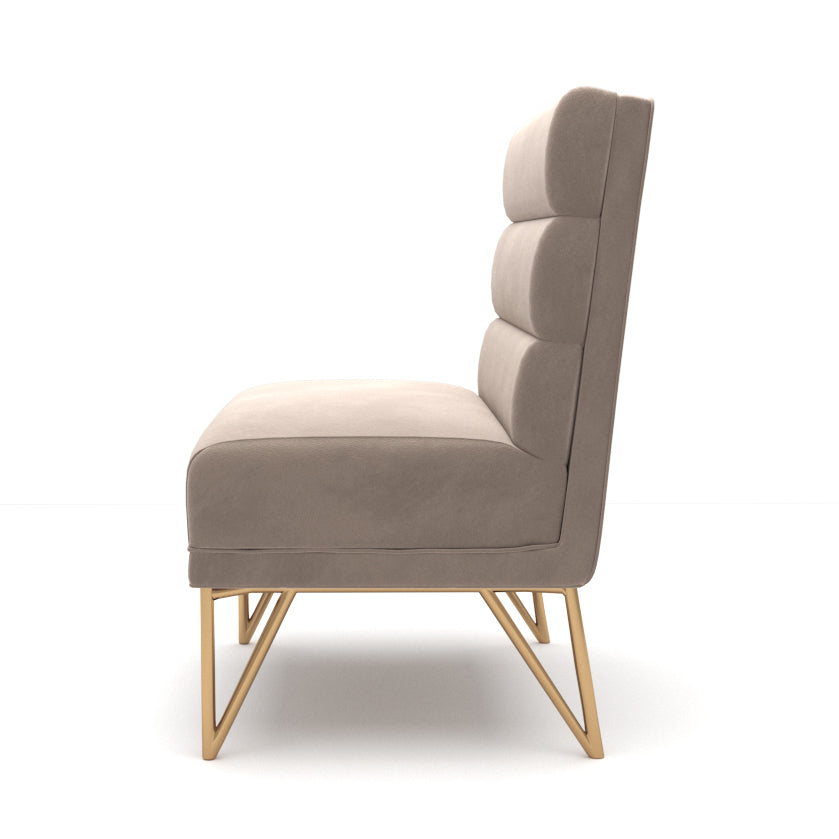 Frankie Cream Velvet Chair