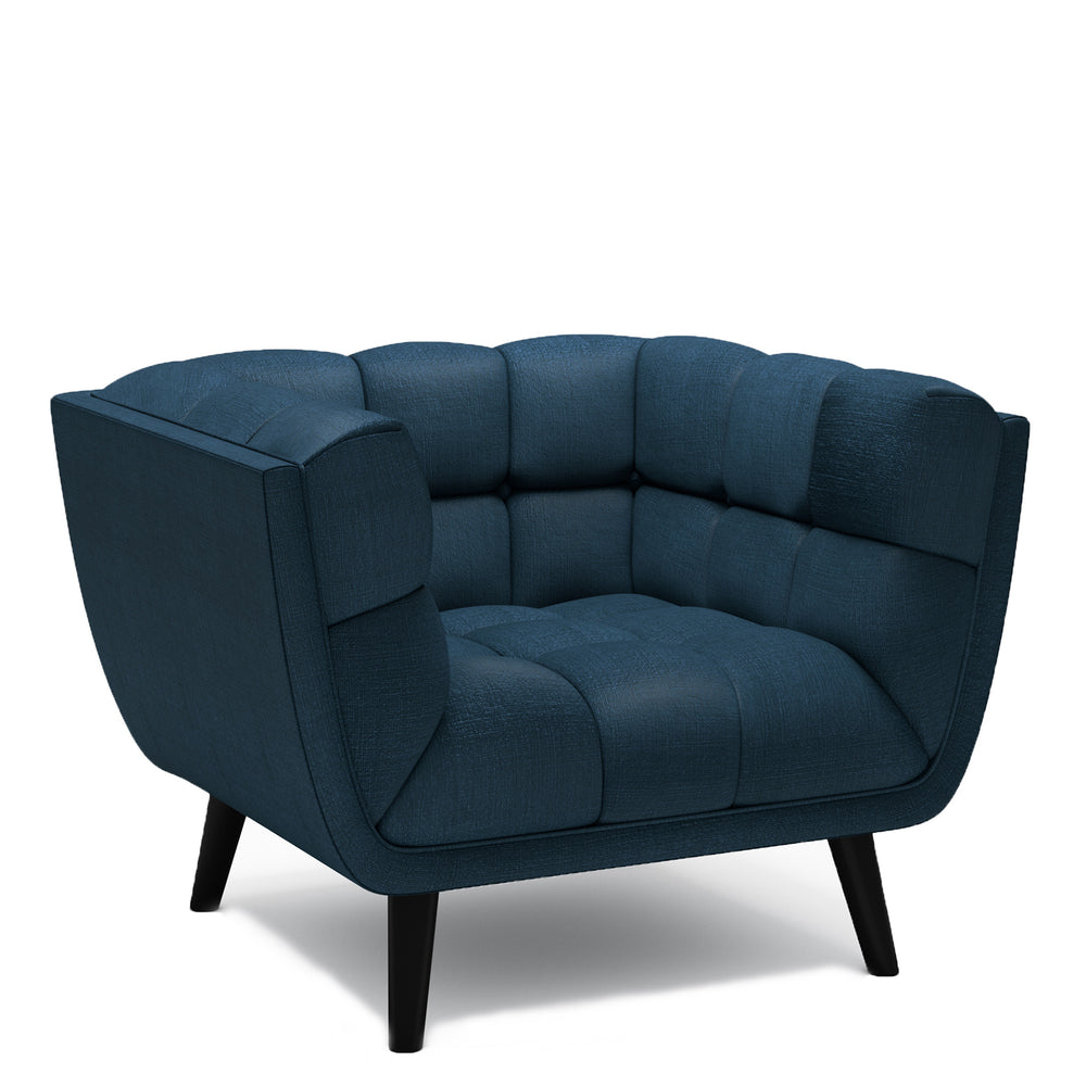 Lucas Blue Fabric Chair
