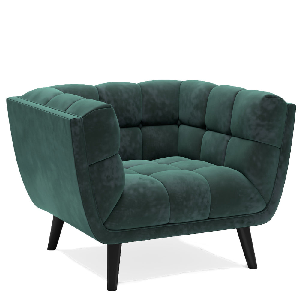 Lucas Light Olive Velvet Chair