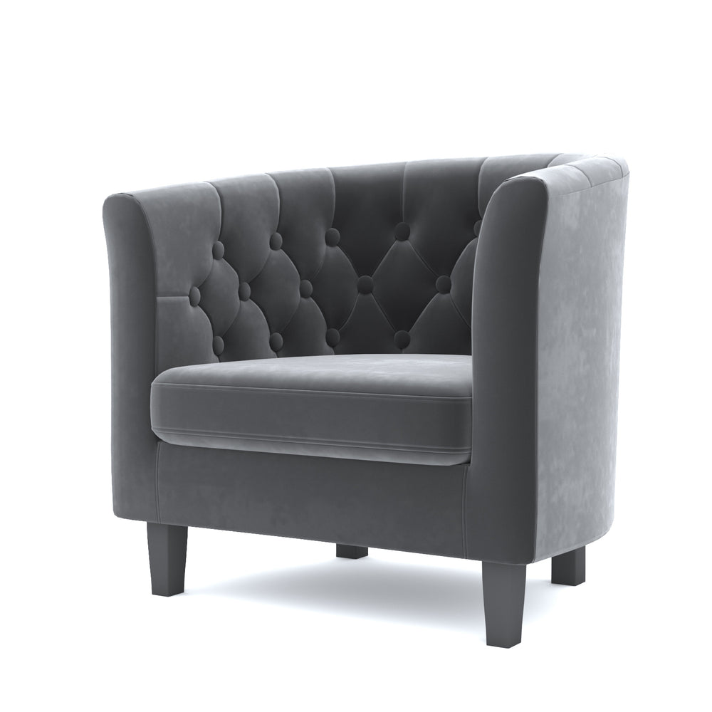 Narragansett Gray Velvet Chair