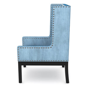 Row Blue Velvet Chair