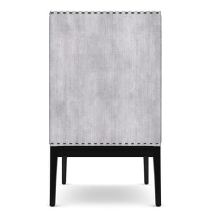 Row Gray Velvet Chair