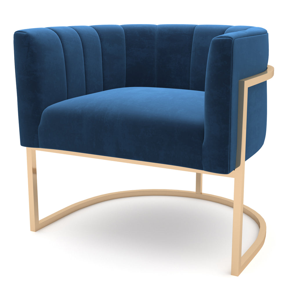Tribute Navy-Gold Chair