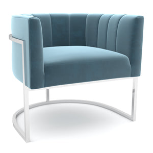 Tribute Seablue-Silver Chair